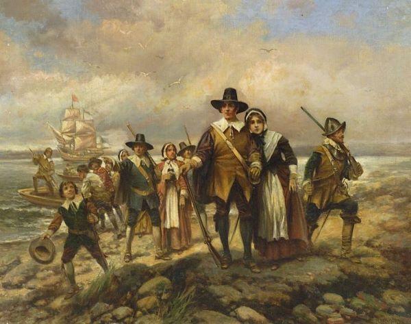 Edward-percy-moran-pilgrims-landing